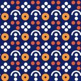 De symmetrie naadloos patroon van het bessenlandbouwbedrijf royalty-vrije illustratie