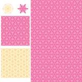 De symmetrie naadloos patroon van het bloemmadeliefje stock illustratie