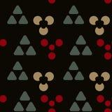 De symmetrie naadloos patroon van holtekens stock illustratie