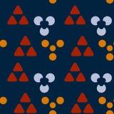 De symmetrie naadloos patroon van holtekens vector illustratie