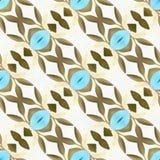 De Symmetrie van de batikcaleidoscoop het Van een lus voorzien stock illustratie