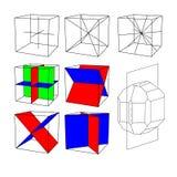 De symmetrie van kristallen stock illustratie