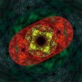 De symmetrische groei van bacteriën Stock Afbeeldingen
