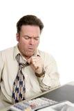 De Symptomen van de griep op het Werk stock foto's