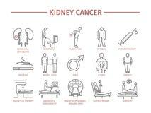 De Symptomen van nierkanker Royalty-vrije Stock Afbeeldingen