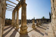 De synagoge van Capernaum Stock Foto