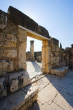 De synagoge van Capernaum Stock Foto's