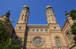 De Synagoge van de Dohanystraat in Boedapest Royalty-vrije Stock Fotografie