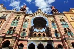 De Synagoge van Jeruzalem in Praag Royalty-vrije Stock Afbeelding