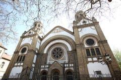 De synagoge van Novi Sad is één van vier synagogen die vandaag binnen bestaan Stock Foto's