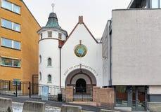 De Synagoge van Oslo, Noorwegen Royalty-vrije Stock Afbeeldingen