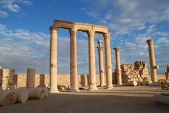 De Syrische Ruïnes van de Tempel Stock Afbeeldingen