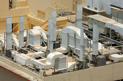 De systemen van de airconditioning Stock Afbeeldingen