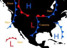 De systemen van het weer Stock Foto