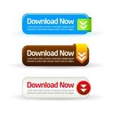 De téléchargement collection moderne de bouton maintenant Photos stock