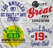 De T-shirt Grafisch Ontwerp van de slogan Vastgesteld Mens Stock Afbeeldingen