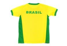 De t-shirt van de de mensenvoetbal van Brazilië. Stock Afbeelding