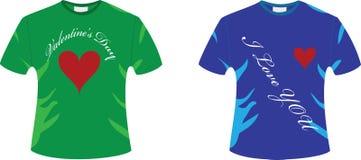 De t-shirt van de valentijnskaart Royalty-vrije Stock Afbeelding