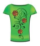 De t-shirt van de vrouw Stock Foto's
