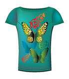 De t-shirt van de vrouw royalty-vrije illustratie