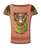 De t-shirt van de vrouw stock illustratie