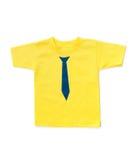 De t-shirt van leuke gele kinderen Stock Afbeelding