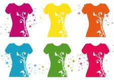 De T-shirt van Womanâs Stock Fotografie