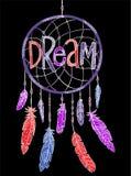 De t-shirtdruk en borduurwerk van het droomconcept Stock Afbeeldingen