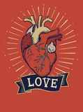 De t-shirtdruk en borduurwerk van het liefdeconcept Royalty-vrije Stock Foto's
