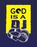 De t-shirtgod is DJ vector illustratie