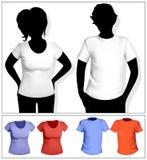 De t-shirtmalplaatje van vrouwen en van mannen royalty-vrije illustratie