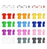 De t-shirtmalplaatjes van mensen stock illustratie