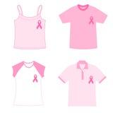 De t-shirts van de kankervoorlichting van de borst Royalty-vrije Stock Afbeeldingen