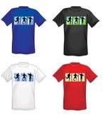 De t-shirts van het voetbal voor mensen Stock Foto