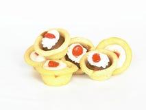 De taartjes van de karamel en van de citroen Royalty-vrije Stock Foto's