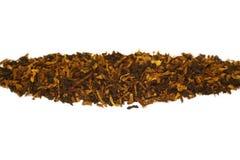 De tabak van de pijp die op wit wordt geïsoleerdd Stock Foto