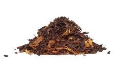 De tabak van de pijp die op wit wordt geïsoleerde Stock Fotografie