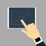 De tablet met grafiek Royalty-vrije Stock Foto's