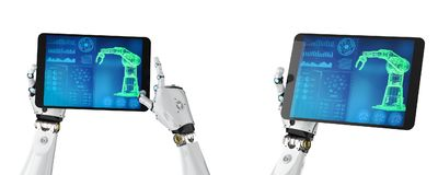 De tablet van de Cyborggreep stock illustratie