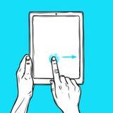 De tablet van de handgreep Stock Afbeeldingen