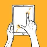 De tablet van de handgreep Stock Foto's