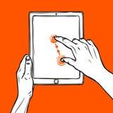 De tablet van de handgreep Stock Fotografie