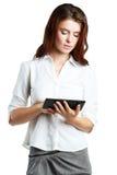 De tablet van de meisjesholding Royalty-vrije Stock Foto's