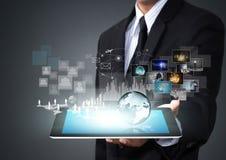 De tablet van het aanrakingsscherm met nieuwe technologie royalty-vrije stock fotografie