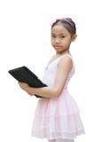 De tablet van het het meisjesgebruik van het ballet Royalty-vrije Stock Foto's