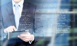 De tablet van het Webontwerp Stock Afbeelding