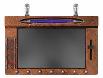 De tablet van Internet van Steampunk Stock Afbeelding