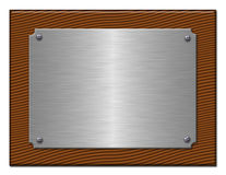 De tablet van zilverachtig metaal. Stock Afbeeldingen