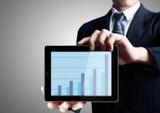 De tabletconcept van de aanraking Stock Foto