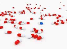 De tabletten van de capsule Stock Fotografie